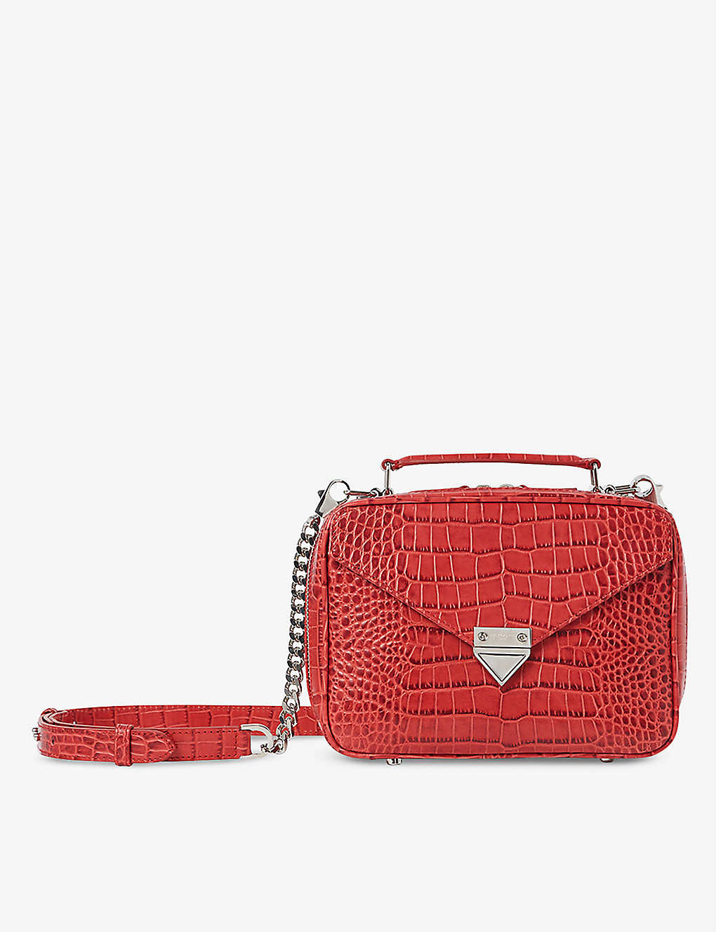 THE KOOPLES: Barbara medium croc-embossed leather cross-body bag