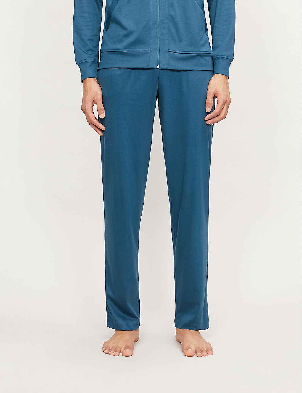 ZIMMERLI: Lounge cotton and modal-blend jogging bottoms