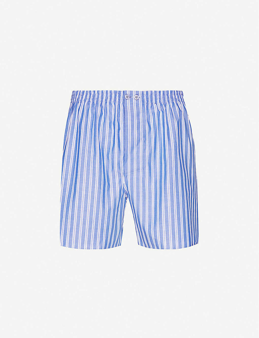 ZIMMERLI: Striped cotton boxer shorts