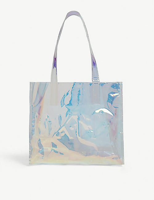DKNY Kids iridescent PVC tote bag