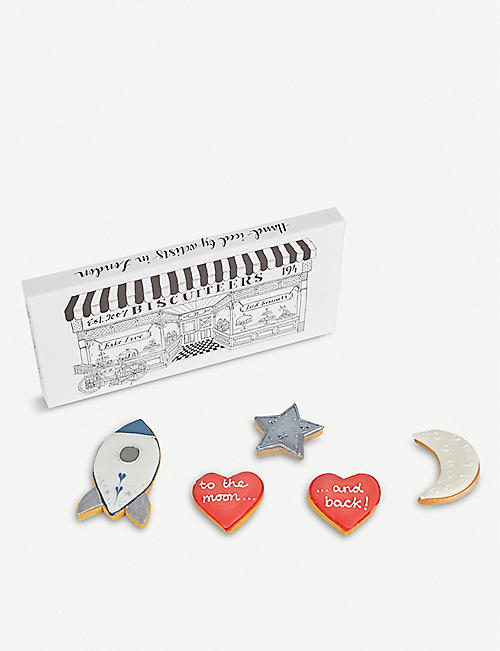 BISCUITEERS To The Moon And Back letterbox biscuits box of five