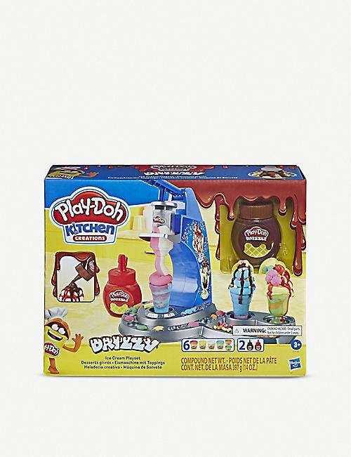 PLAYDOH: Drizzy Drizzy ice cream maker with toppings set