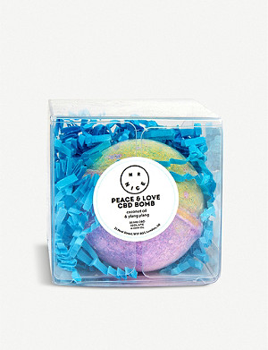 MR NICE Peace & Love coconut and ylang ylang CBD bath bomb 142g