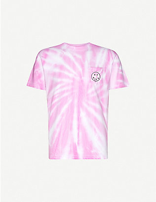 MR NICE: Tie-dye logo-embroidered cotton-jersey T-shirt