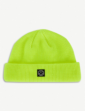 MR NICE Smiley branded wool-knit beanie
