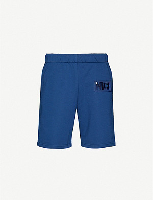 MR NICE Brand-embroidered straight cotton-blend shorts