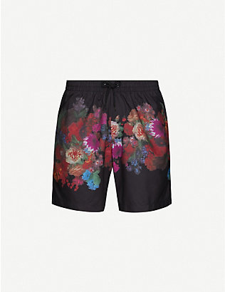 DRIES VAN NOTEN: Floral-print swim shorts
