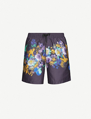 DRIES VAN NOTEN Floral-print swim shorts