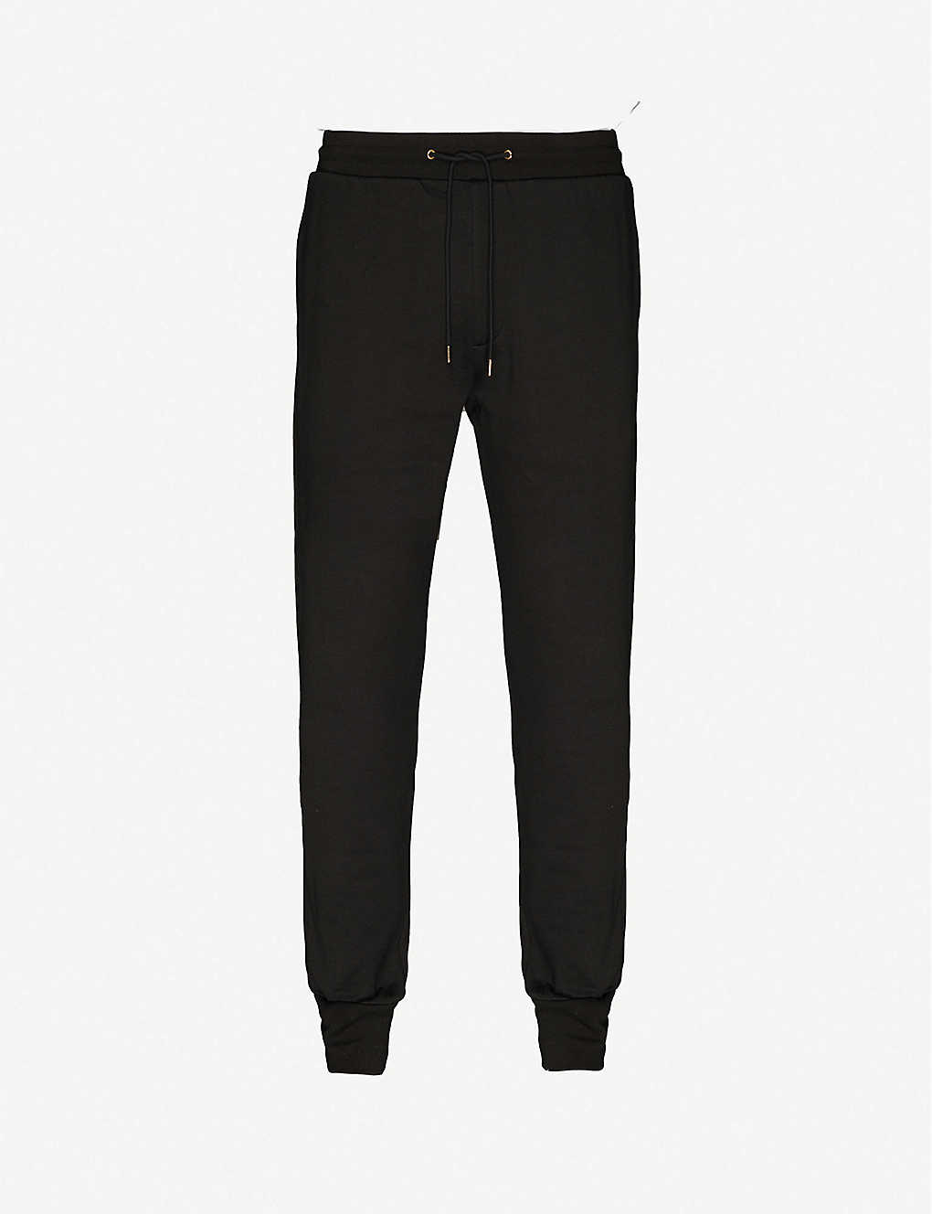 PAUL SMITH: Graphic-appliqué tapered cotton-jersey jogging bottoms