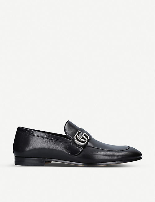 GUCCI Donnie GG-embellished leather loafers