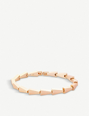 KENDRA SCOTT Leon Link 14ct rose gold-plated bracelet