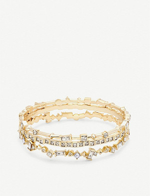KENDRA SCOTT Malia 14ct gold-plated and crystal bracelet set