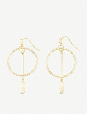 KENDRA SCOTT Nalani open-frame 14ct gold-plated earrings