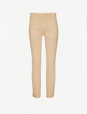 NILI LOTAN Jenna straight high-rise stretch-cotton trousers