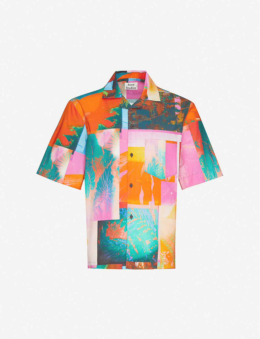 ACNE STUDIOS: Simon graphic-pattern cotton shirt