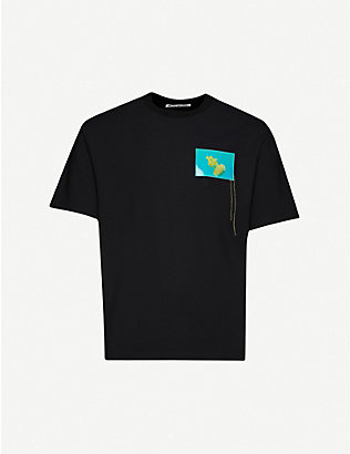 ACNE STUDIOS: Jellyfish-patch stretch-jersey T-shirt