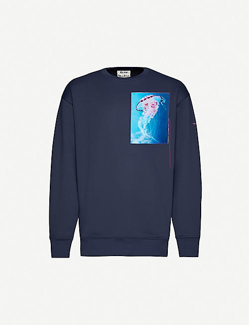 ACNE STUDIOS Jellyfish-print cotton-jersey sweatshirt