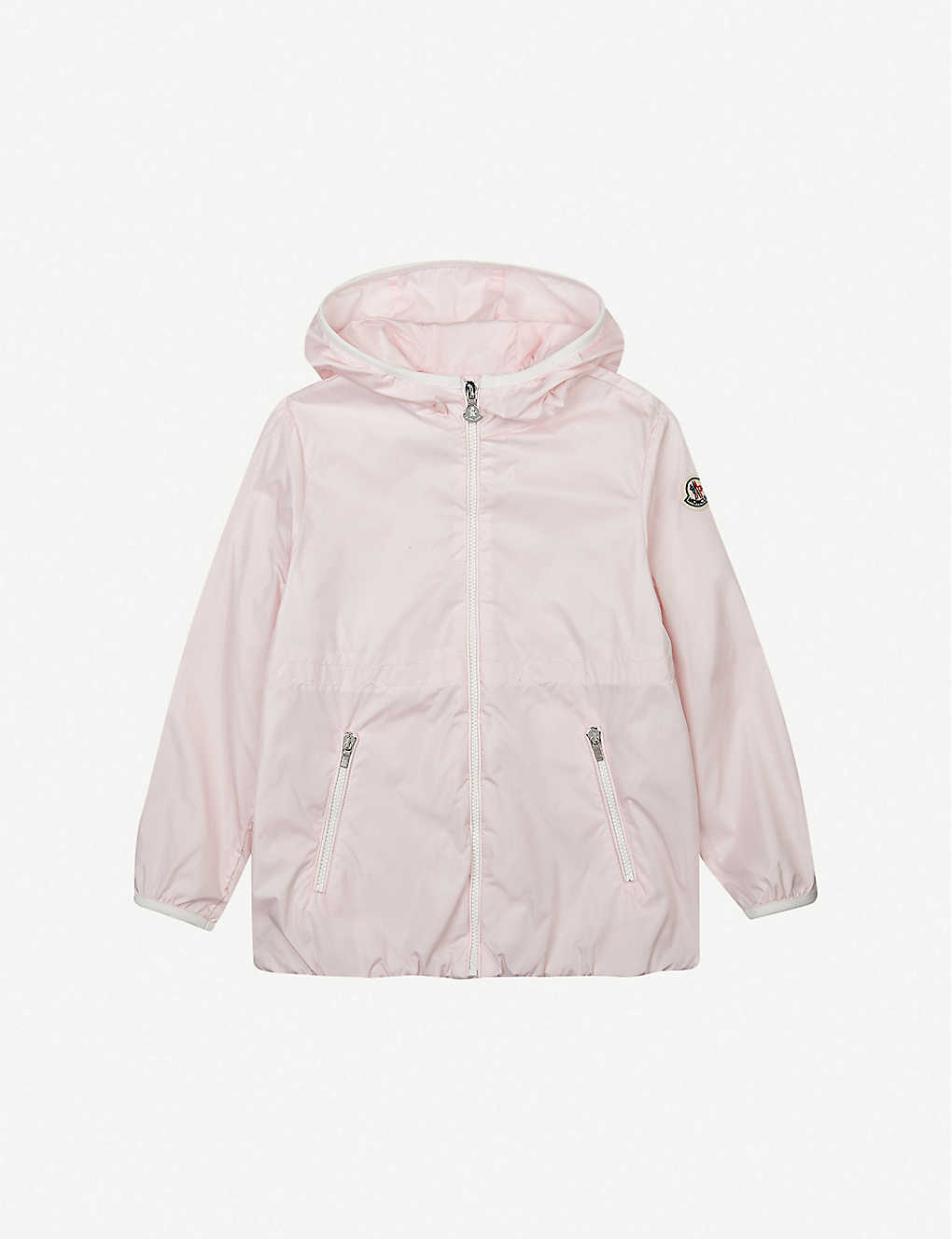MONCLER: Eau hooded woven jacket 4-14 years