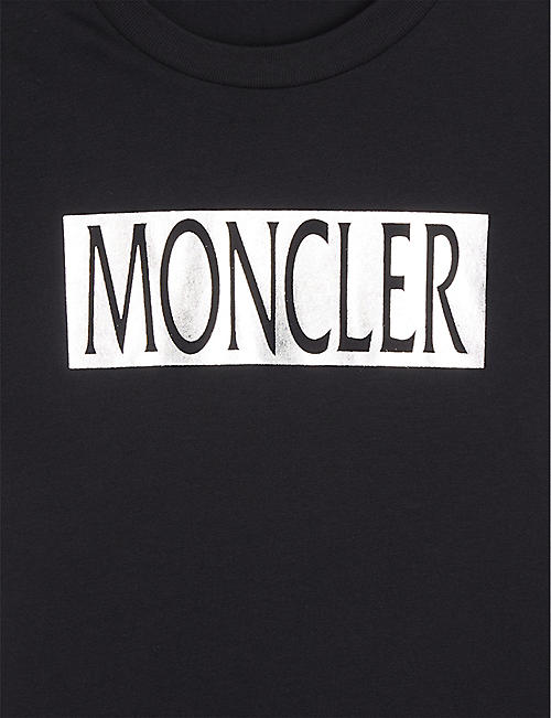 MONCLER Metallic logo cotton t-shirt 4 - 10 years