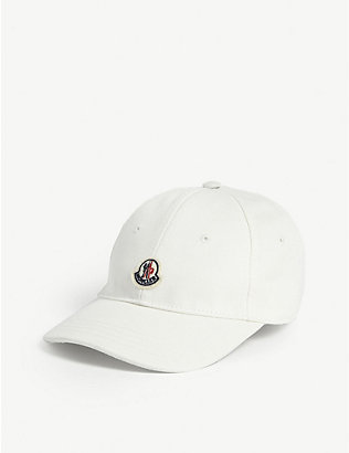 MONCLER: Kids logo patch-embroidered baseball cap