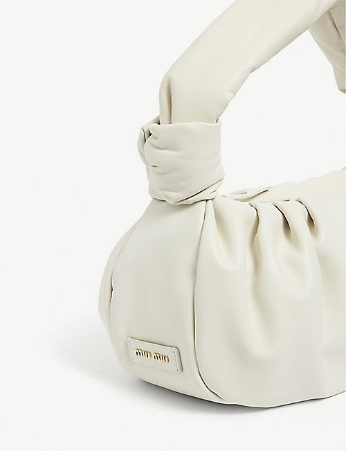 MIU MIU Knotted handle leather shoulder bag