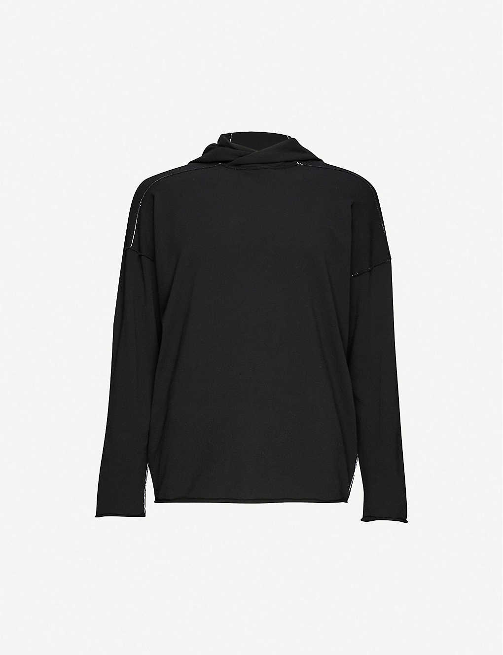 ISABEL BENENATO: Contrast stitch woven hoody