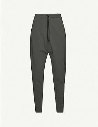 ISABEL BENENATO: Contrast stitch woven tracksuit bottoms