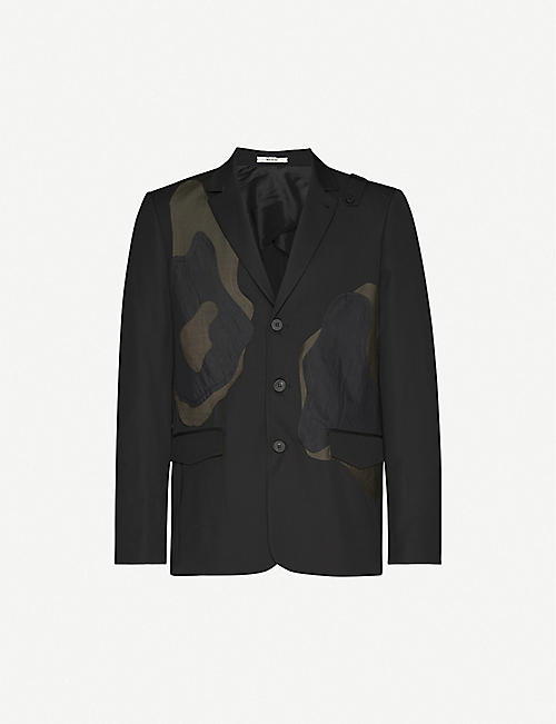 ISABEL BENENATO Camouflage-print panelled wool-blend jacket