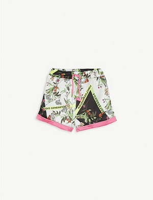 PINKO Floral twill shorts 8-16 years