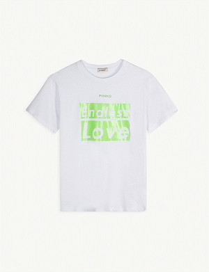 PINKO Endless Love cotton T-shirt 4-14 years