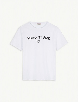 PINKO 'Pinko Te Amo' graphic cotton T-shirt 4-16 years