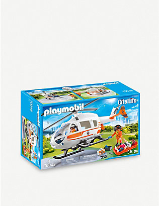 PLAYMOBIL: City Life Emergency Medical Helicopter set