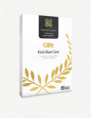 HEALTHSPAN: Elite Kick-Start Caffeine Gum box of 40