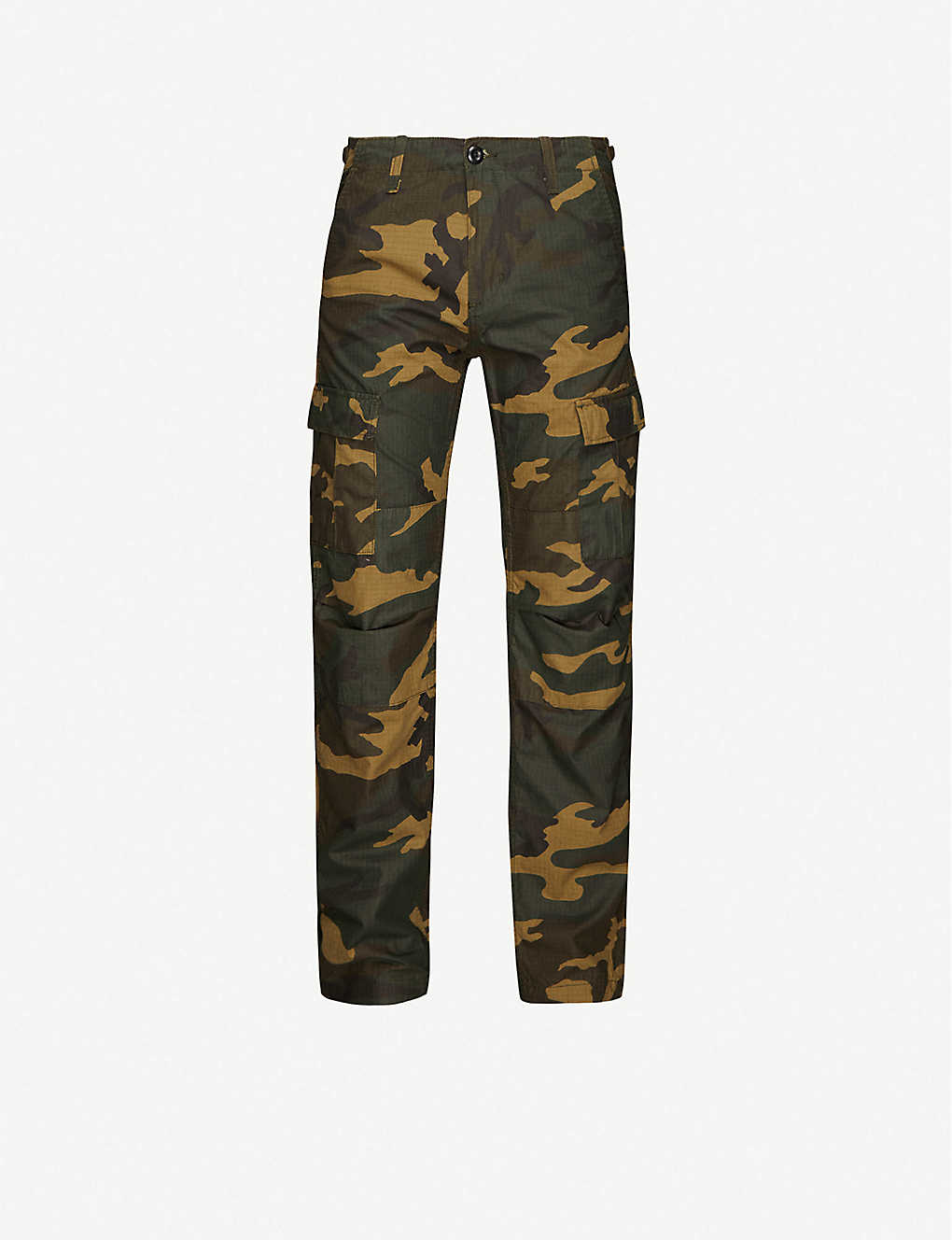 CARHARTT WIP: Aviation camouflage-print cotton cargo trousers