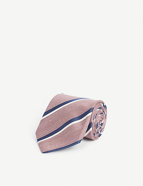 BIGI CRAVATTE Diagonal stripe silk tie