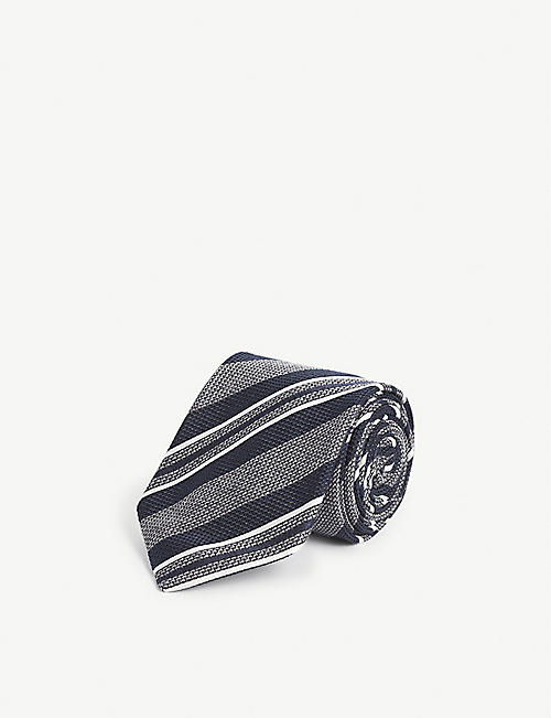 BIGI CRAVATTE: Thick stripe silk tie