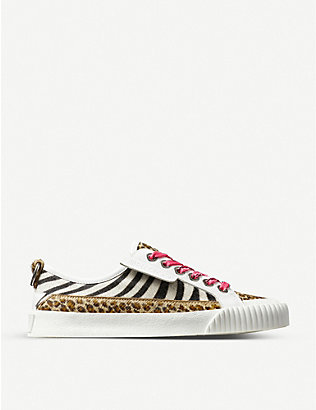 JIMMY CHOO: Impala zebra-print leather low-top trainers