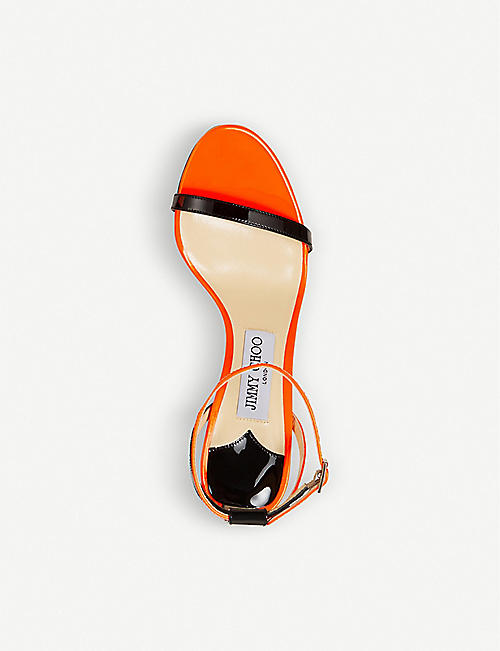 JIMMY CHOO Minny 85 patent leather sandals