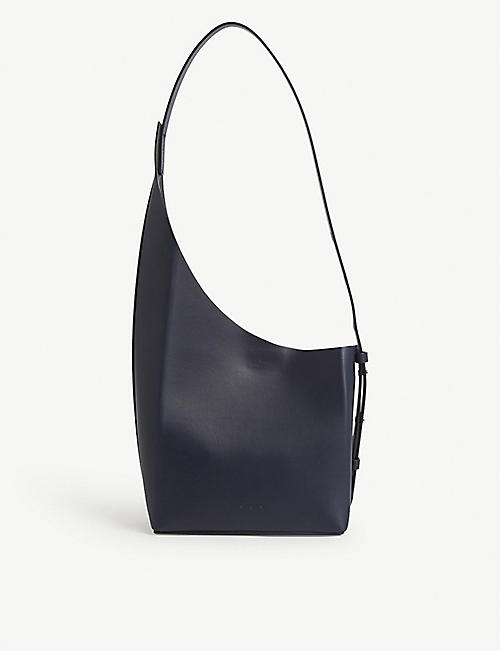 AESTHER EKME Demi Lune leather bucket bag