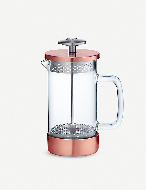 BARISTA & CO Core three cup borosilicate glass and stainless-steel coffee press 350ml