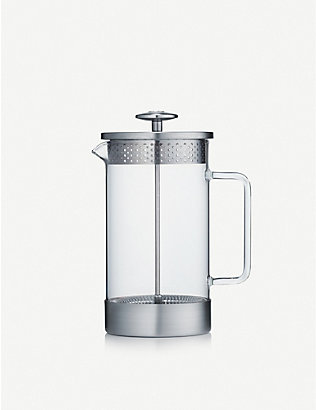 BARISTA & CO: Eight cup borosilicate glass and stainless-steel coffee press 1L