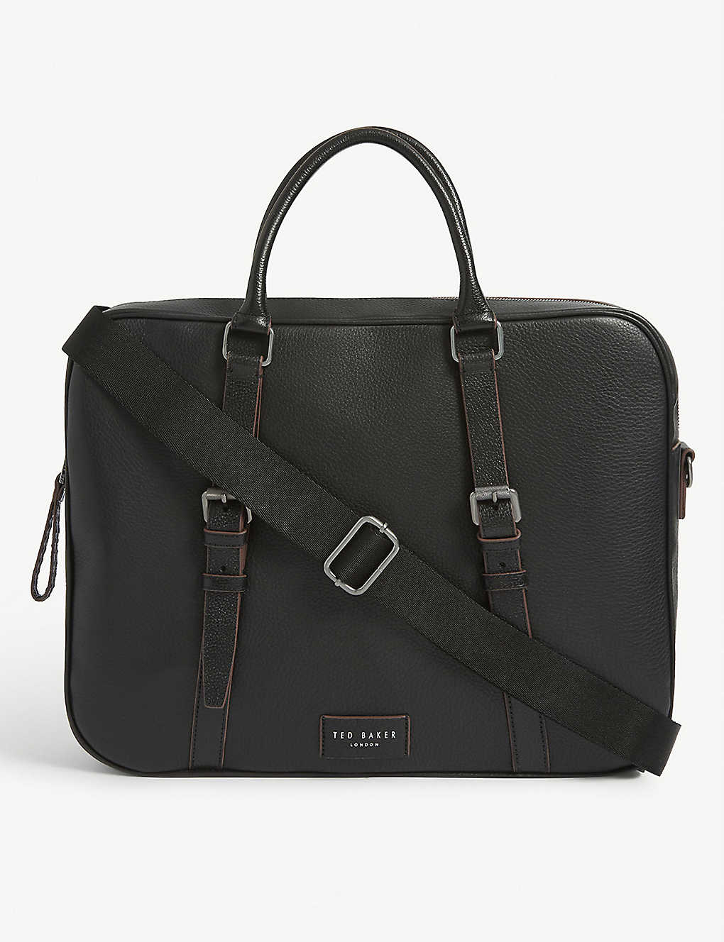 TED BAKER: Hooston leather document bag