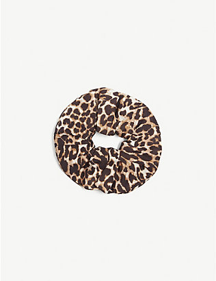 LES COYOTES DE PARIS: Kids Melin leopard-print hair scrunchie