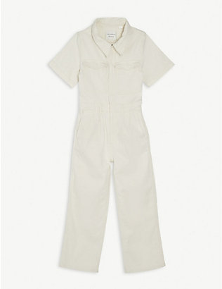 LES COYOTES DE PARIS: Alex cotton-blend denim boiler suit 8-18 years