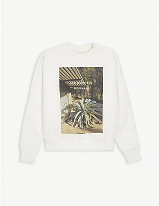 LES COYOTES DE PARIS: Betty photo print cotton-blend sweatshirt 8-18 years