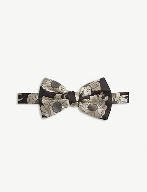 DRIES VAN NOTEN Flower pattern silk bowtie