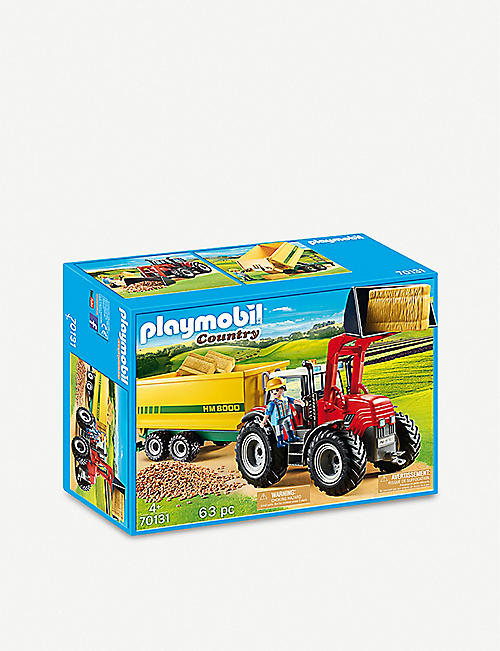 PLAYMOBIL: Country 70131 tractor with feed trailer