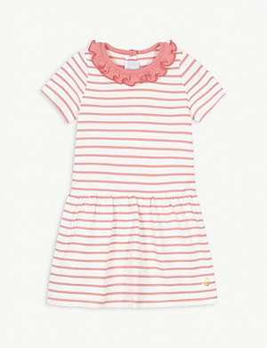 PETIT BATEAU Striped ruffled cotton dress 6-36 months