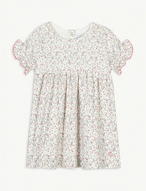 PETIT BATEAU Floral-print ruffled cotton dress 6-36 months