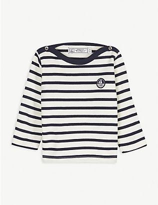 PETIT BATEAU: Cotton striped top 6-36 months